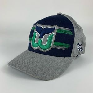 Hartford Whalers Old Time Hockey Fitted Hat L/XL